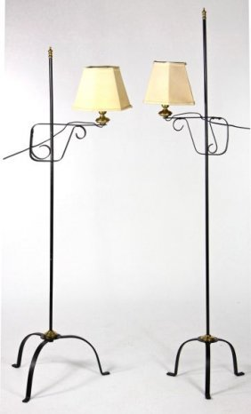 Pair Of Antique Style Floor Lamps