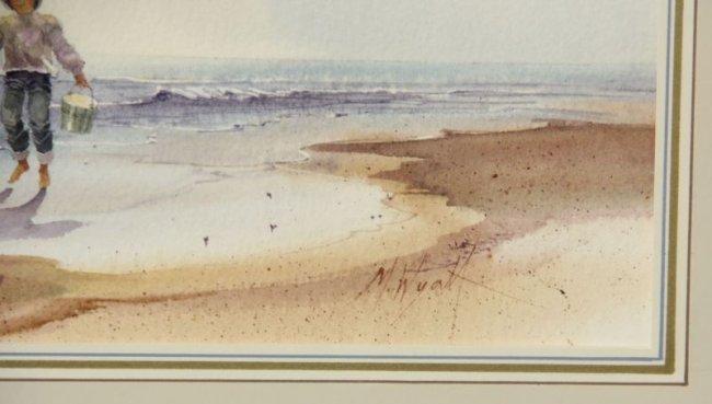 M Wyatt Am 20th C Two Coastal Watercolors Lot 302