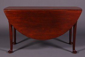 English 19thC Mahogany Queen Anne Drop Leaf Table