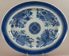 "Blue Chinese 19thC  Fitzhugh Porcelain 15"" Platter"