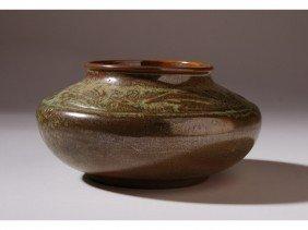 Signed Frankoma Art Deco American Art Pottery Vase