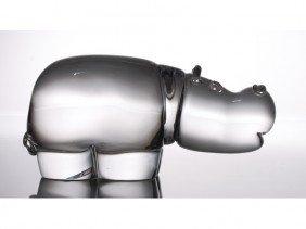 Steuben Hippopotamus Crystal Hippo Figurine