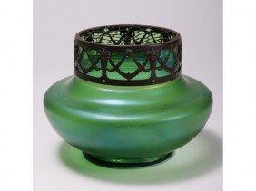Loetz Iridescent Art Glass Vase With Satyr Head