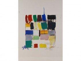 "Susan S. Rowland 1940- ""Alphabet"" Modern Painting"