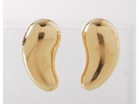 Elsa Peretti Tiffany & Co. 18K Gold Earrings