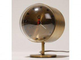 Howard Miller Mid Century Nelson Brass Clock