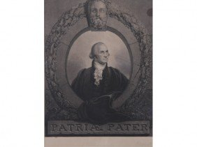 Rembrandt Peale G. Washington Patriae Pater Print