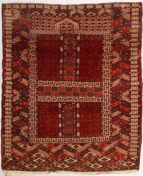 Turkish Semi Antique Ensi Salor Oriental Rug 5'x4'