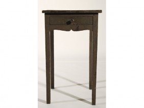 Painted 19C Primitive One Drawer Hepplewhite Stand