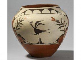 "Helen Gachupin Acoma Native Indian Pottery 10"" Jar"