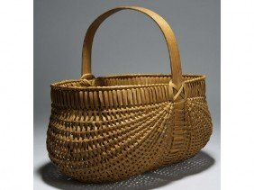 Old Melon Ribbed 19C  Buttocks 16 Basket""