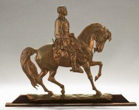 McClellan 19C Civil War Bronze JQA Ward FO.Darley