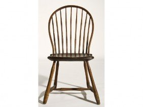 19C Windsor Bamboo Turned Bow Back Side Chair
