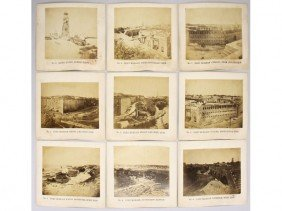 Group Of 9 Albumen Fort Morgan 1864 Photographs