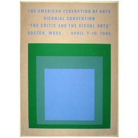 Vintage 1965 Josef Albers Art Museum Poster