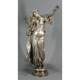 French M. J. Antonin Mercie - Salome Bronze Dancer