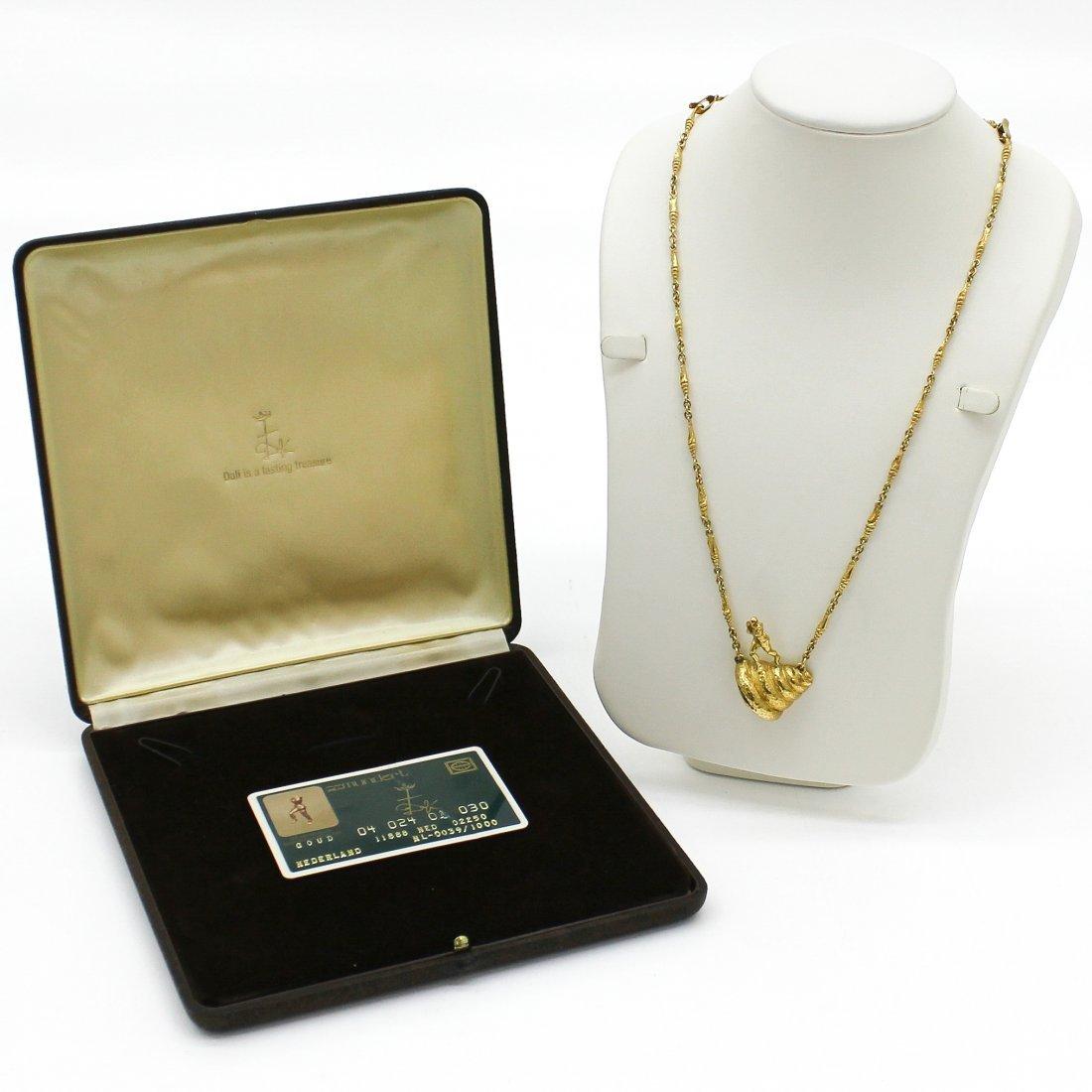 18KG Salvador Dali Necklace Original Box and Card