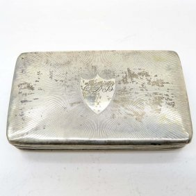 19th Century Dutch Silver Tobacco Box