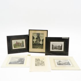 Diverse Lot Of Etchings And Engravings