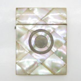 Mother Of Pearl Business Card Holder