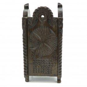 19th Century Dutch Carved School Bag
