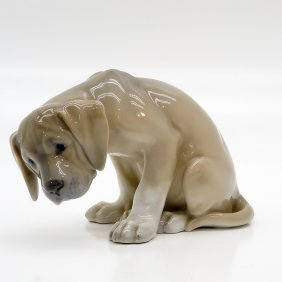 Large Royal Copenhagen Figurine Of Dog