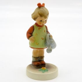 Hummel Figurine Of Girl With Watering Can