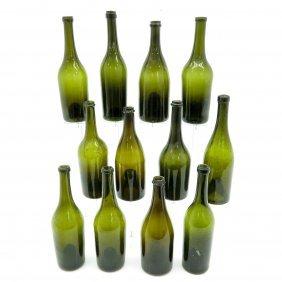 Lot Of 12 Antique Bottles Circa 1800