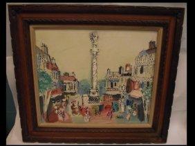 Impressionist Cityscape- Charles Cobelle- O/C
