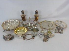 Assorted Vintage & Antique Silver Plate Serving