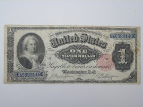 Us Currency American Series Of 1891 $1 Bill