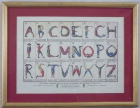 "Framed Print Of Alphabet ""comical Hotch-potch"""
