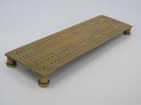 Vintage Brass Cribbage Board
