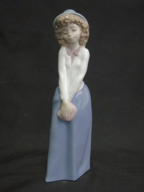 Lladro Nao Painted Porcelain Figurines