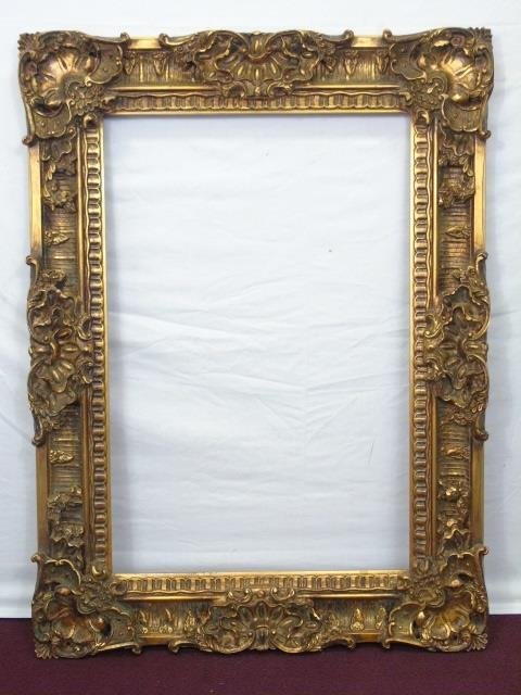 Carved Gilt Wood Frame for Mirror or Painting : Lot 196