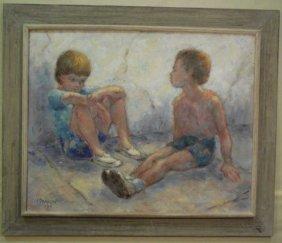 Aleksandr Kramarev Impressionist Portrait Painting
