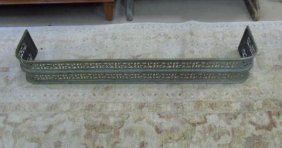 Antique Gilt Brass Fretwork Fireplace Fender