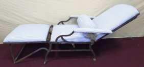 Antique 19th C French Wrought Iron Day Bed