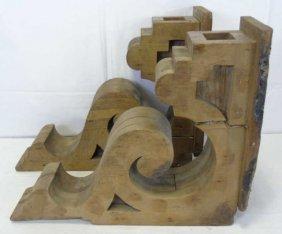 Pair Of Vintage Wood Corbels