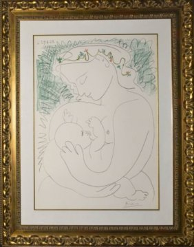 "Pablo Picasso Titled ""maternity"" Color Lithograph"