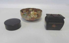 Antique Japanese Lacquer & Satsuma Items
