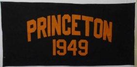 Vintage Princeton University 1949 Large Banner