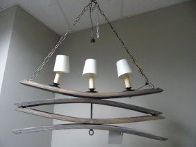 Contemporary Modern Driftwood Chandelier Light