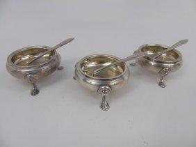 3 Tiffany & Co Makers Sterling Silver Salt Cellars