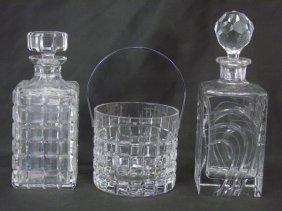 Contemporary Modern Atlantis Crystal Bar Set