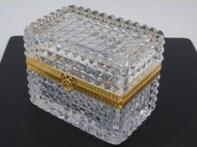 Antique French Cut Crystal Dresser Box
