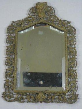 Large Antique 19th C Bradley & Hubbard Mirror