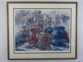 Lo Ling Kwok Pencil Signed & Numbered Lithograph