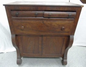 Antique 19th C American Empire Butlers Chest
