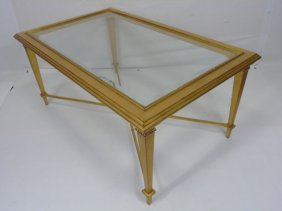 Contemporary Modern Gold Leaf Coffee Table